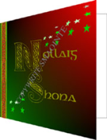 6 Christmas Cards: Merry Christmas (Green&Red)