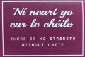 Card: There Is No Strength Without Unity