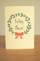 Card: Merry Christmas (Christmas Wreath)