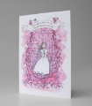 Card: Communion card for a girl (Pink)