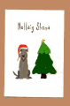 6 Christmas Cards: Merry Christmas (Dog by a Tree)