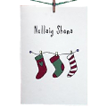 6 Christmas Cards: Merry Christmas (Stockings)