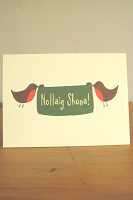 6 Christmas Cards: Merry Christmas (Robins)
